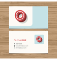 business card letter O vector image vector image