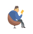 Businessman Top Manager In A Suit Reading In vector image vector image