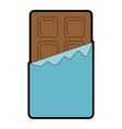 chocolate bar isolated icon vector image vector image