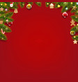 christmas card with christmas toys vector image vector image