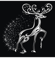 Christmas card with stylized deer vector image vector image