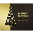 christmas tree with glitter effect vector image vector image