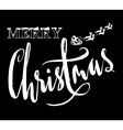 Classic lettering design for a Christmas greetings vector image vector image