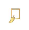click tablet computer symbol vector image