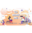 coworking space with creative people remote worker vector image vector image