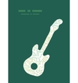 curly doodle shapes guitar music silhouette vector image vector image
