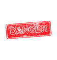 danger red grunge rubber stamp vector image vector image