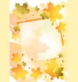 decorative autumn background in orange decorated vector image