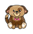 dog kawaii cartoon vector image vector image