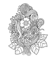 Doodle art flowers Hand vector image vector image