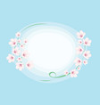 greeting card for spring invitation vector image