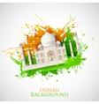 Grungy Taj Mahal vector image vector image