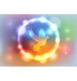 Heaven Glow Dove vector image vector image