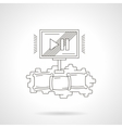 Home cinema theater detailed line icon vector image vector image