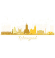 kaliningrad russia city skyline silhouette with vector image vector image