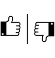 like and dislike vector image vector image