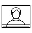 live online learning icon outline style vector image vector image