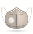 medical respirator surgical mask face care cover vector image