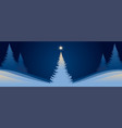 new year banner christmas tree on background vector image