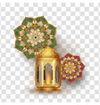 objectselement for ramadan kareem with vector image vector image