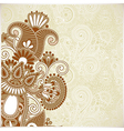 ornate abstract floral background vector image vector image