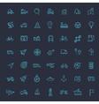 Outline web icons set - navigation location vector image vector image