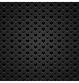 perforated hearts metal vector image vector image