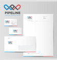 pipeline logo and identity vector image