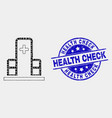 pixelated clinic building icon and distress vector image vector image
