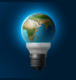 planet inside lamp vector image vector image