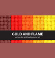 polka dot pattern set gold and flame seamless vector image vector image
