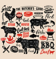 poster meat steak vector image vector image