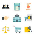 provision icons set cartoon style vector image vector image