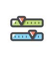 radio tuner scale dashboard icon cartoon vector image vector image