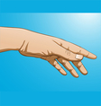 reaching hand vector image vector image