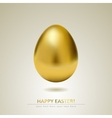 Realistic golden egg isolated on white background vector image