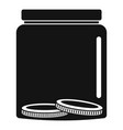 save money icon simple black style vector image vector image