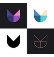 set abstract icons from 4 letters v or y - 2