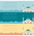 set muslim mosque banner1 vector image