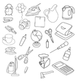 set of objects vector image vector image