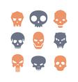 Set of skulls vector image vector image