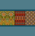set of tribal seamless patterns vector image