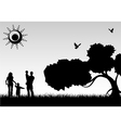 silhouette family vector image vector image