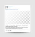 social photo frame transparent modern vector image vector image