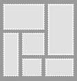 stamp and postage frame envelope vector image vector image
