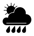 sun and rain solid icon weather vector image vector image