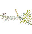 teen credit cards lessons in responsibility text vector image vector image