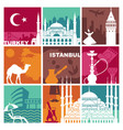 traditional symbols turkey and istanbul vector image vector image