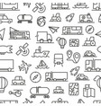 transport icons seamless pattern vector image