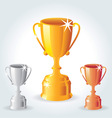 Trophies - Gold Silver and Bronze vector image vector image